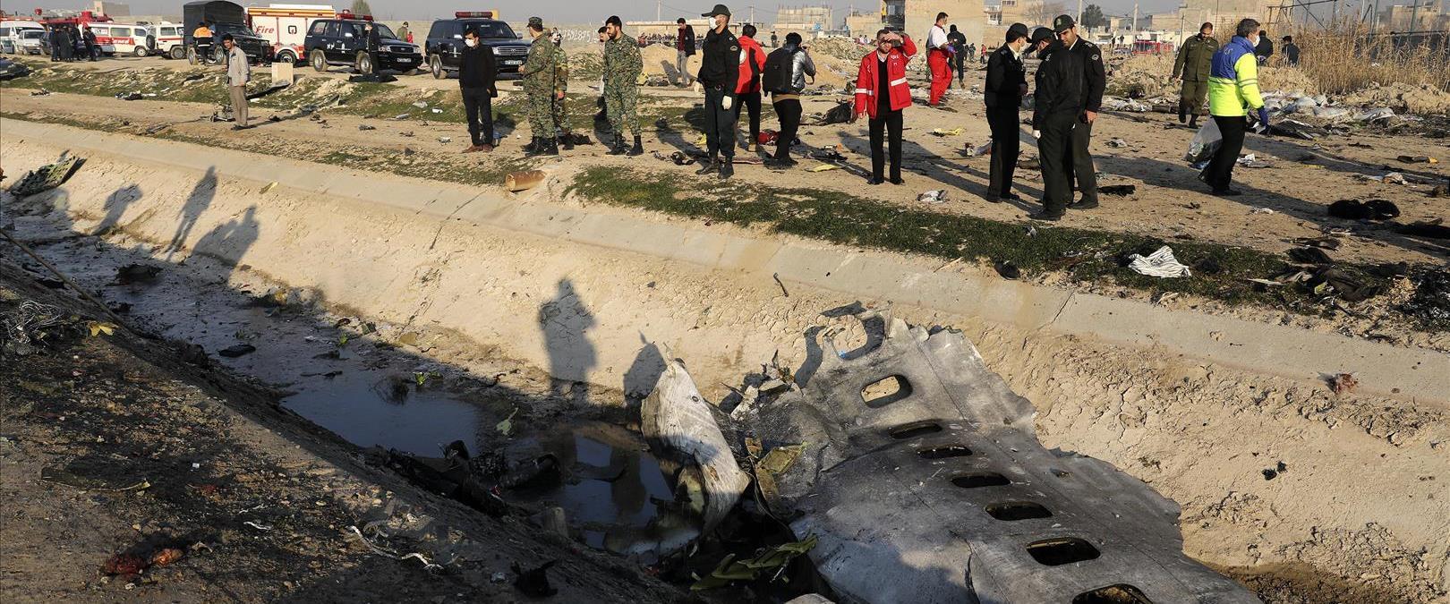 שרידי המטוס האוקראיני