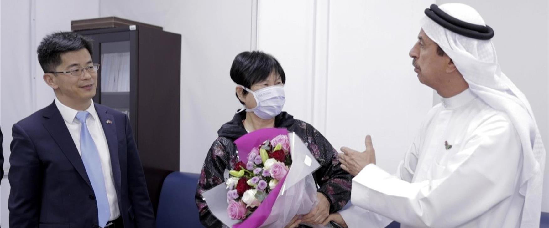 אזרחית סינית נכנסת לאבו דאבי לאחר שנשלל כי נדבקה ב