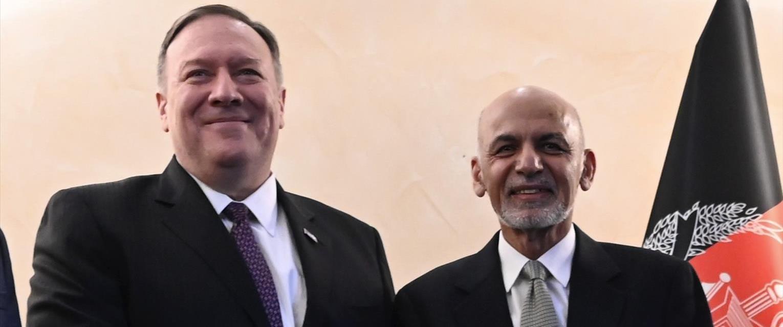 מייק פומפאו ונשיא אפגניסטן אשרף גאני אחמדזאי, פברו