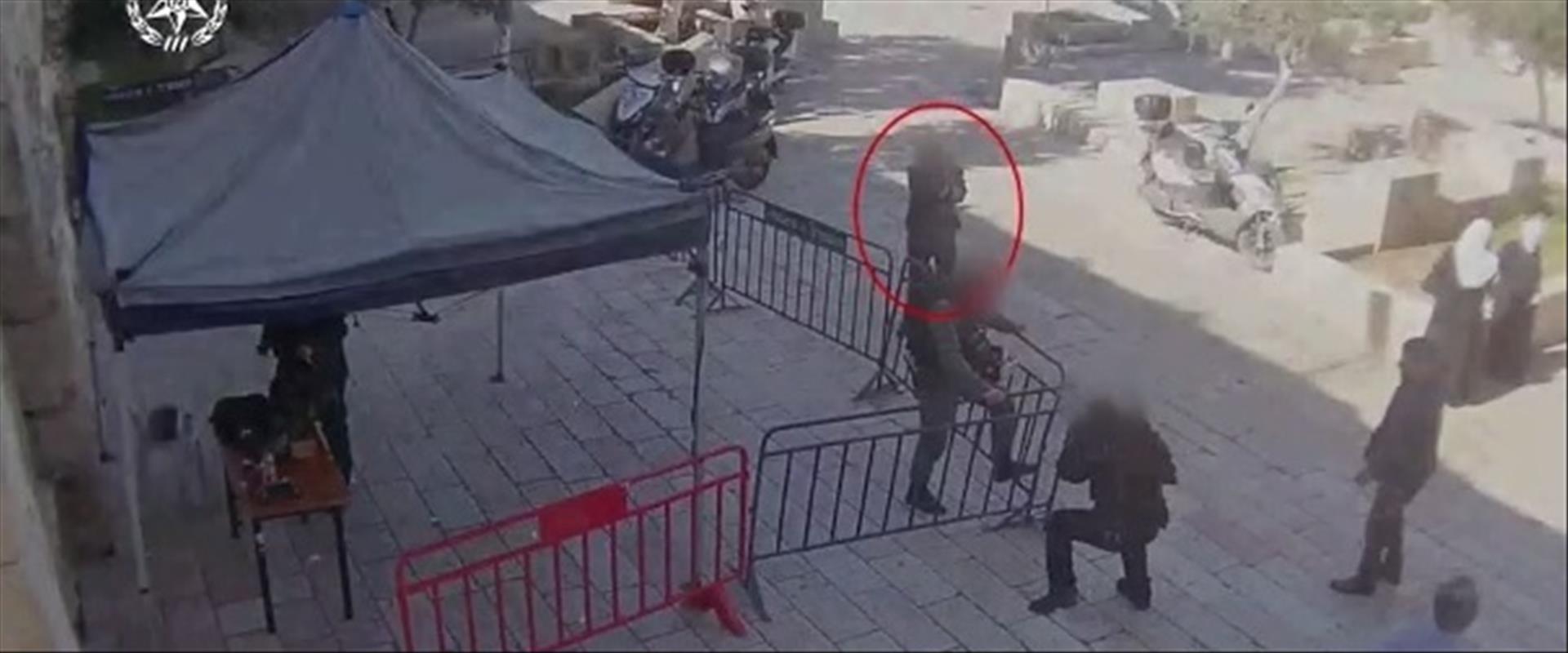 תיעוד פיגוע הירי בעיר העתיקה בירושלים