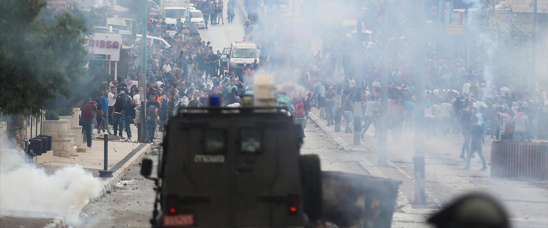 """התפרעויות של פלסטינים ביו""""ש"""
