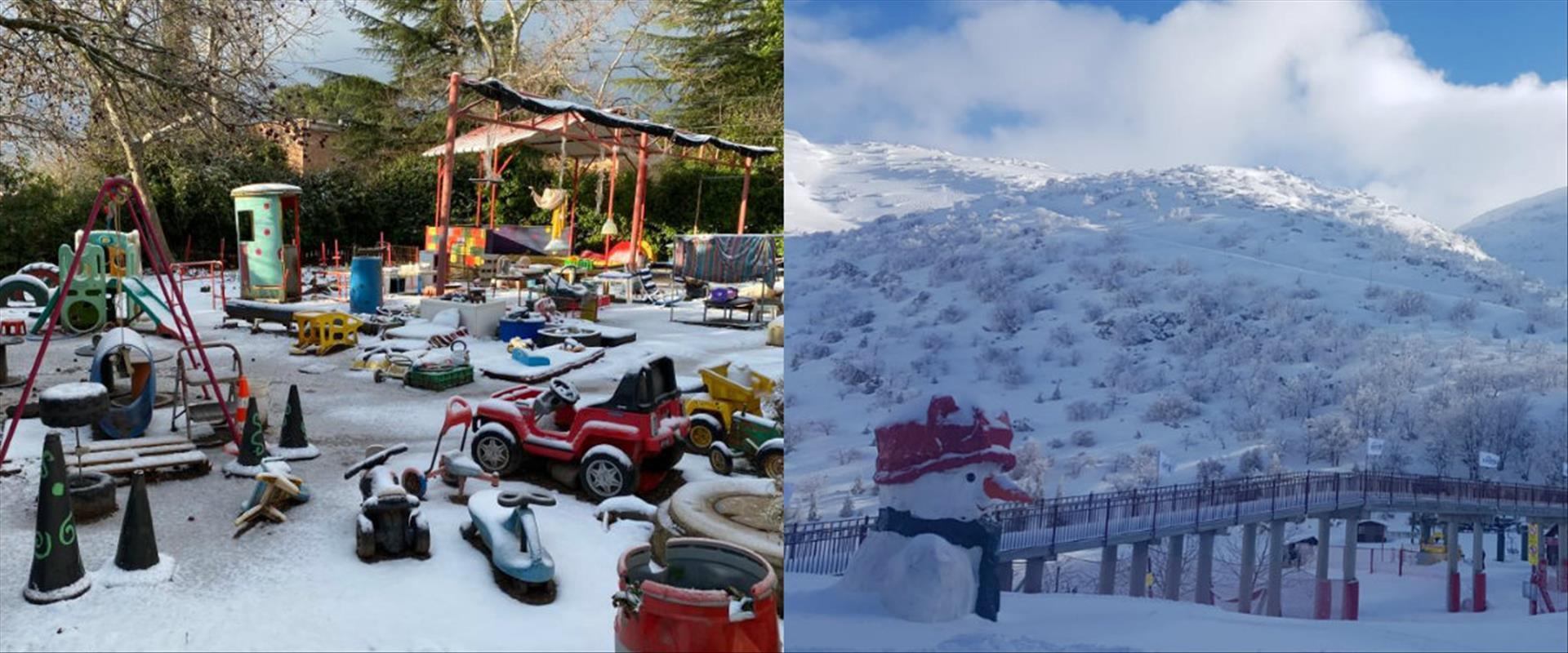 שלג בחרמון ואל רום