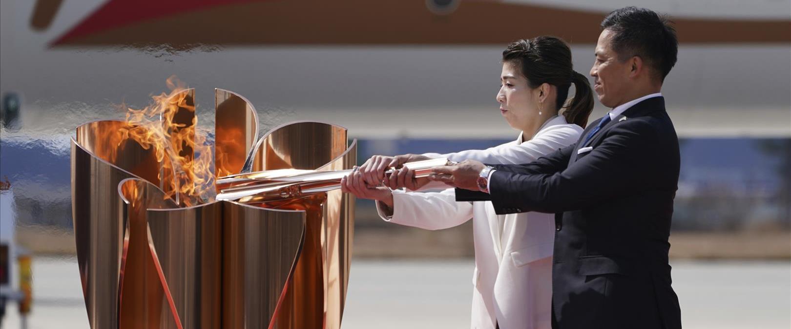 הדלקת הלפיד בטקס הגעת הלהבה צפונית לטוקיו, 20.03.2