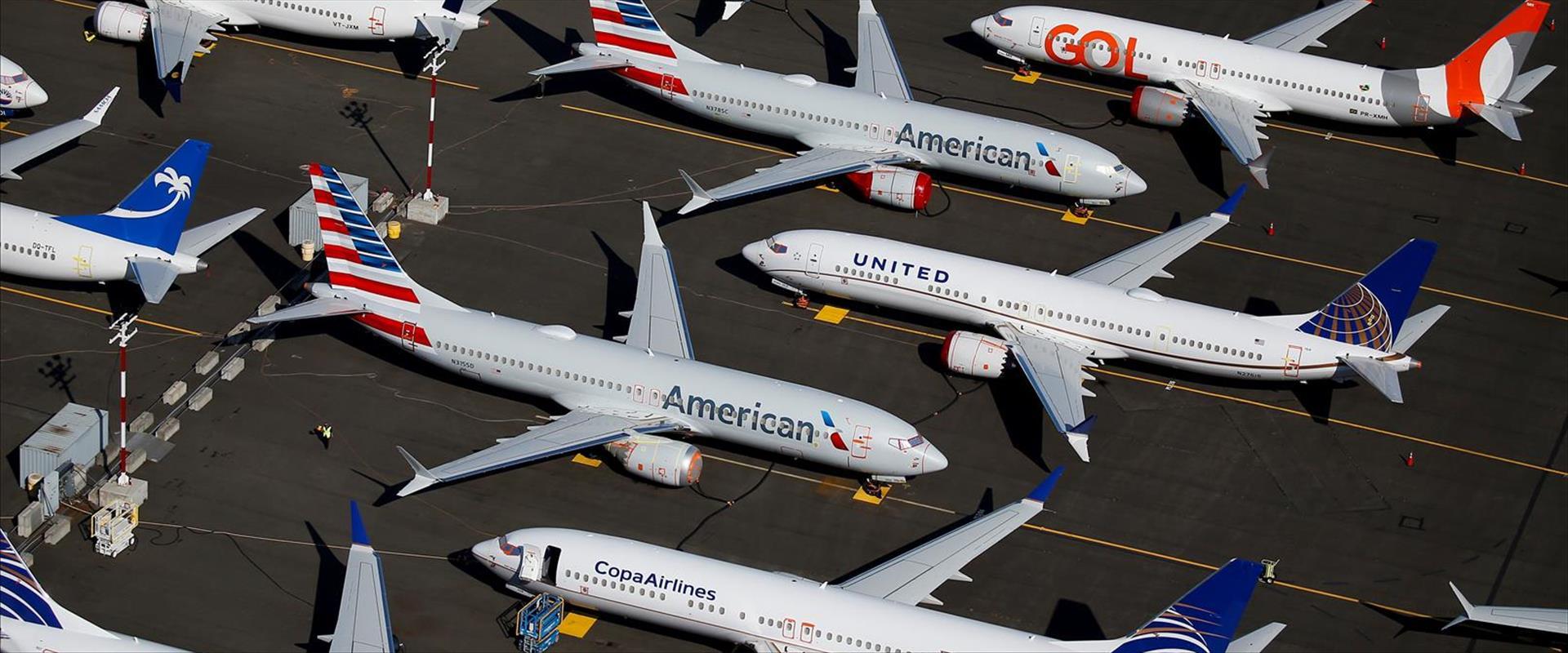 מטוסי 737-MAX מקורקעים בשדה התעופה בסיאטל, הלילה