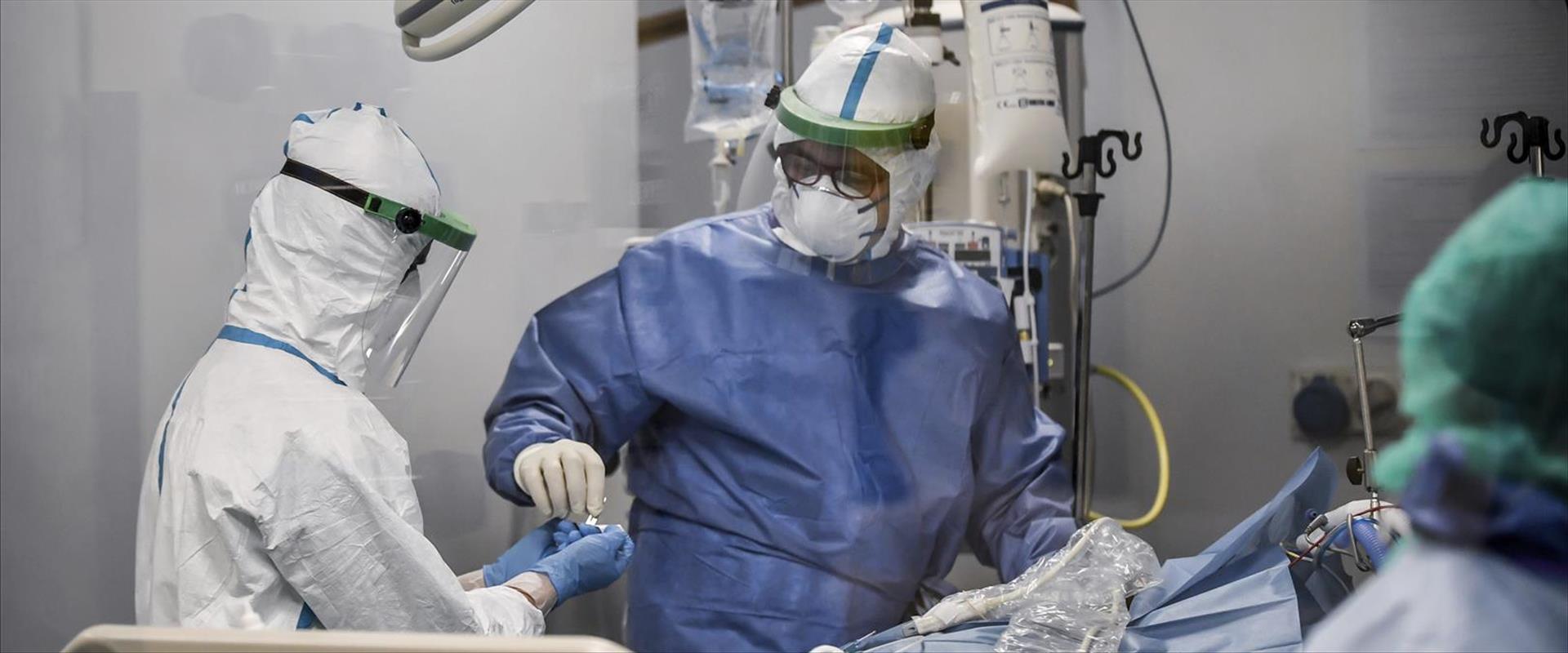 בית חולים באיטליה בעת התפרצות הקורונה