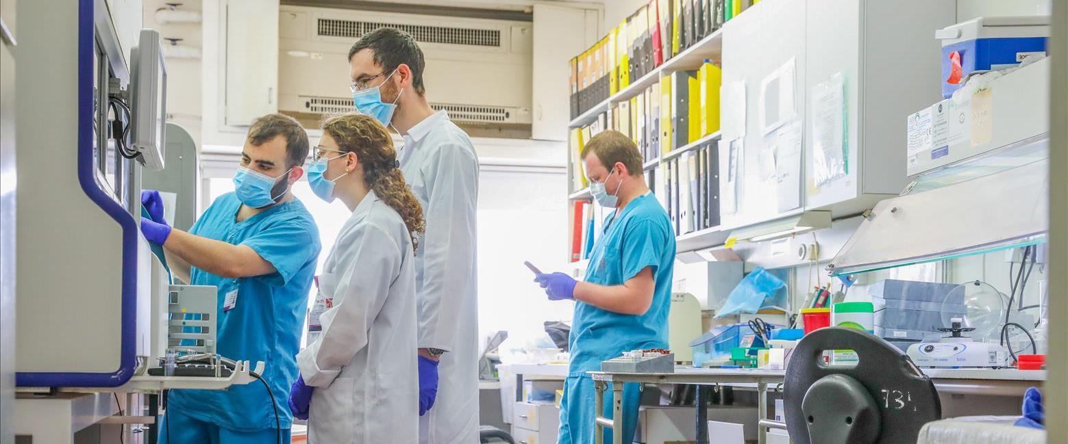 """מעבדת קורונה בבית החולים רמב""""ם בחיפה, ארכיון"""