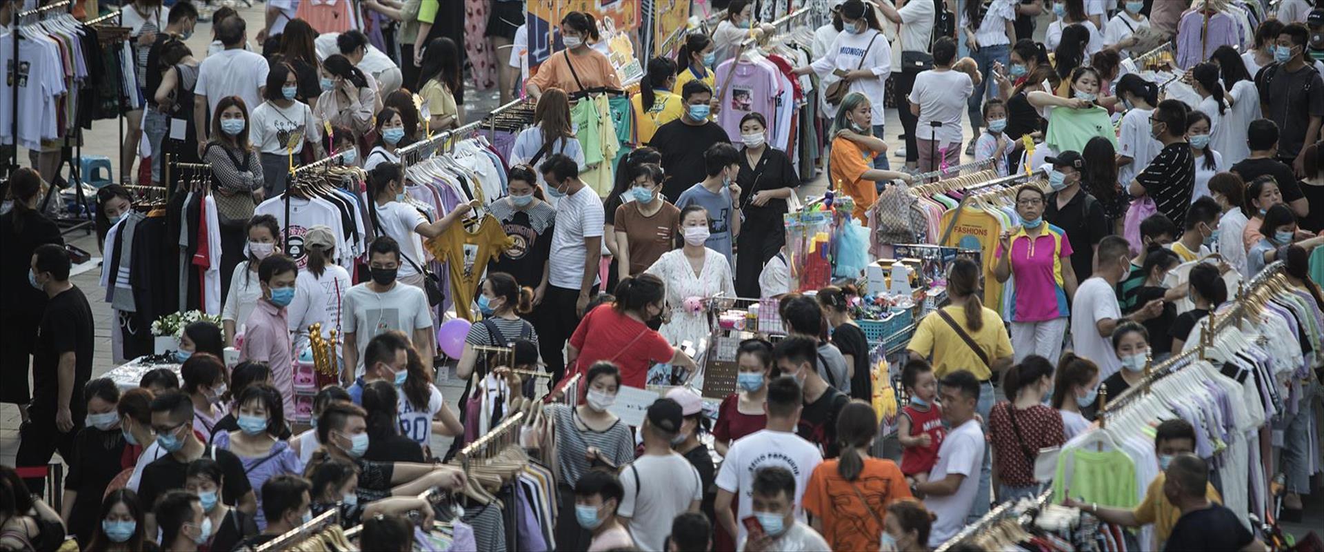 רחבת השוק בווהאן שבסין, בשבוע שעבר