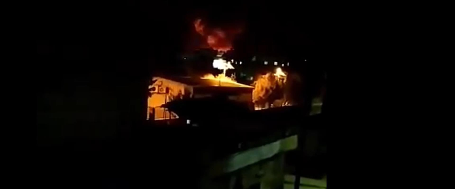 תיעוד מאחת התקיפות בסוריה