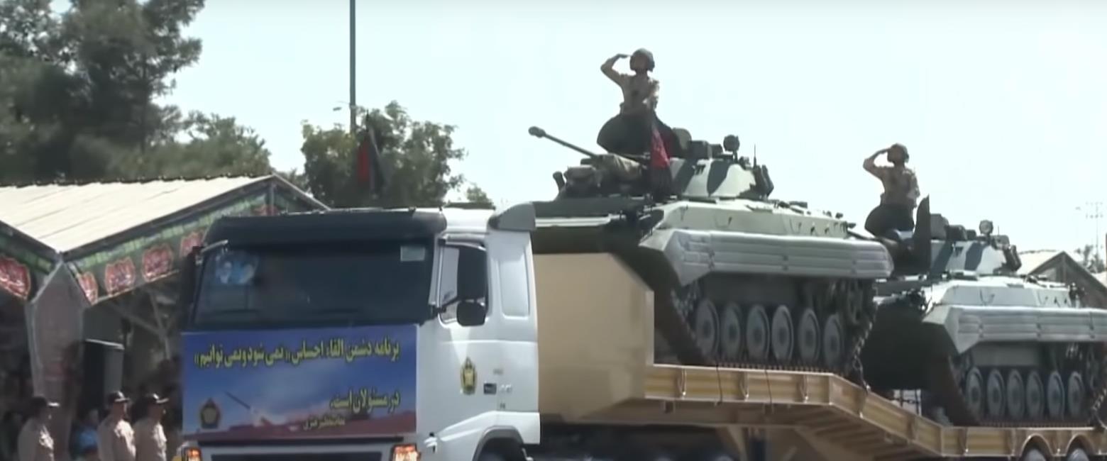 """מצעד צבאי באיראן - מתוך """"מלחמת 40 הימים"""""""