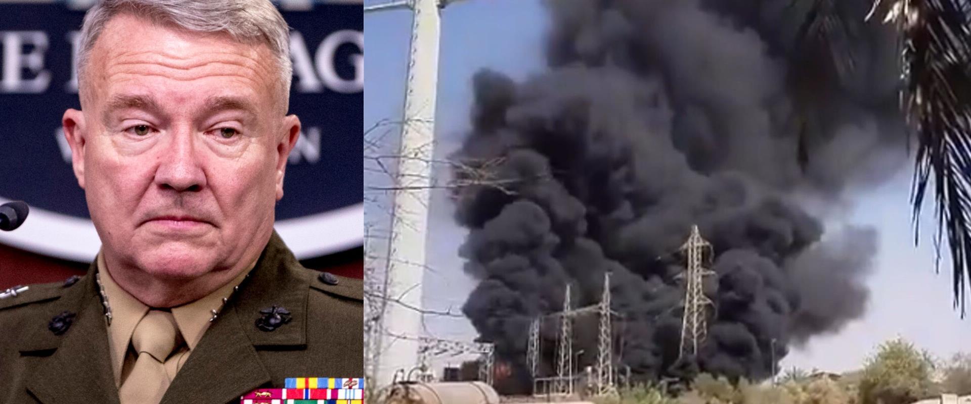 פיצות מתקן הגרעין בנתנז, מפקד פיקוד המרכזי האמריקנ