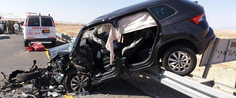 אחד מכלי הרכב בתאונה בכביש 90, היום