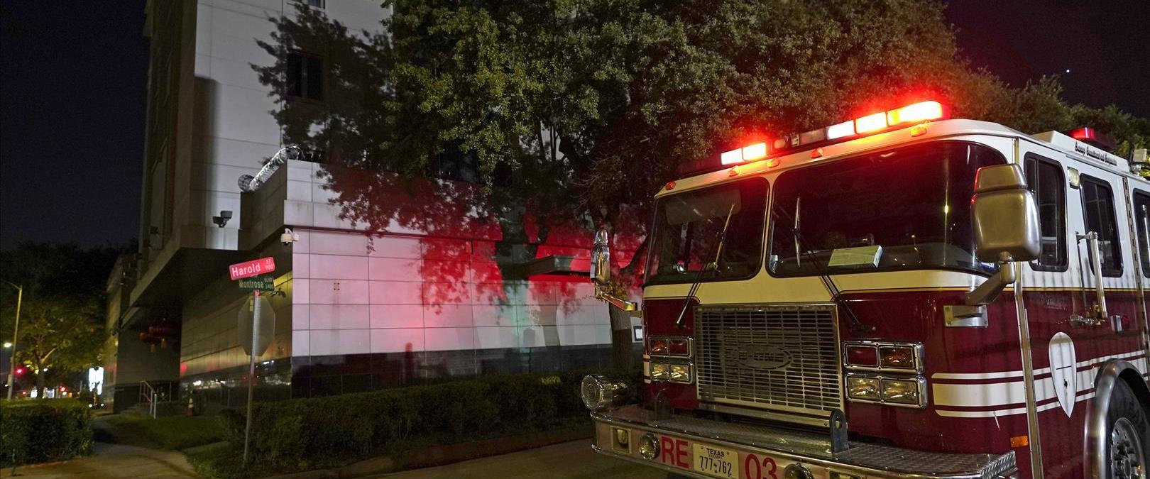 השריפה בקונסוליה הסינית בווסטון, שלשום