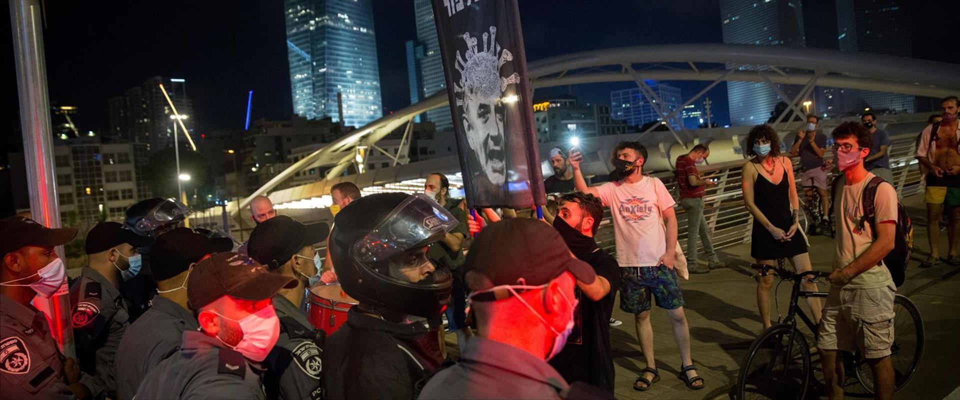 המחאה בתל אביב ביום שלישי