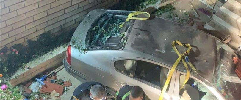 זירת התאונה בערערה