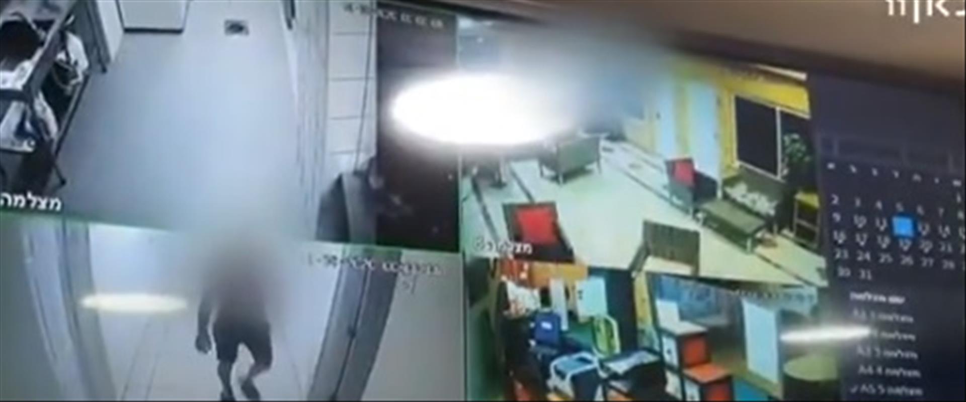 תיעוד ממצלמות האבטחה במלון באילת
