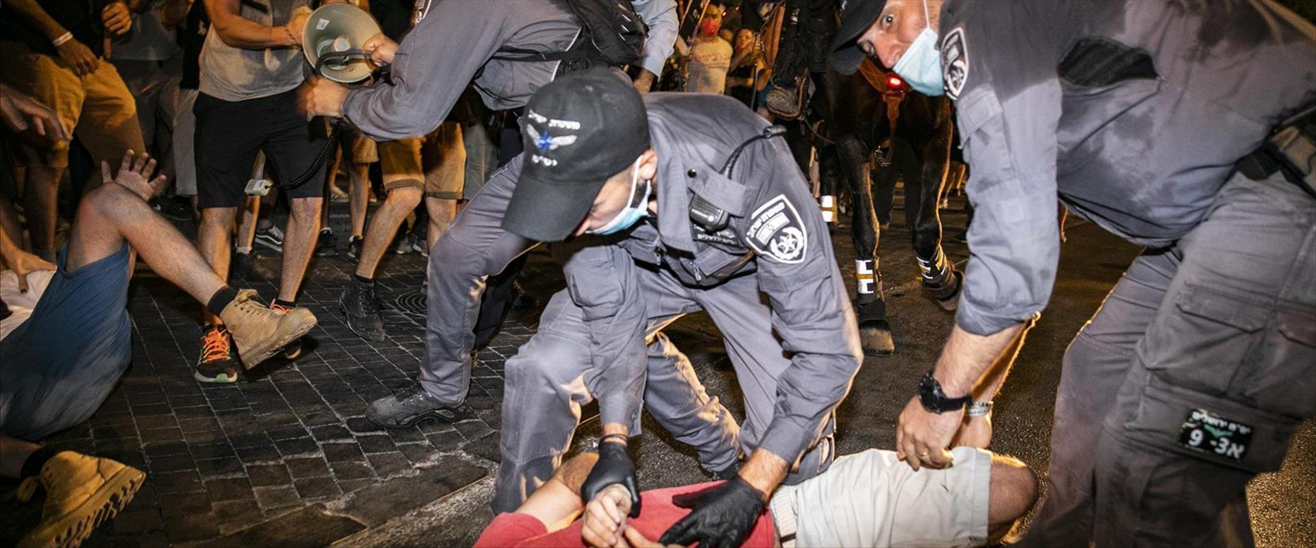 המחאה נגד ראש הממשלה בנימין נתניהו בירושלים