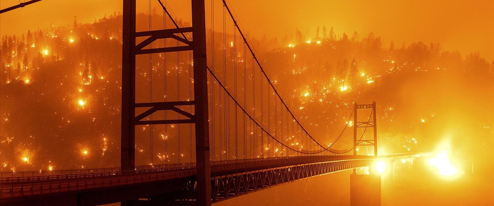 שריפות בסמוך לגשר הזהב