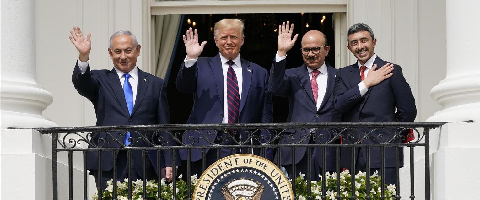 חתימת ההסכם בבית הלבן, הערב