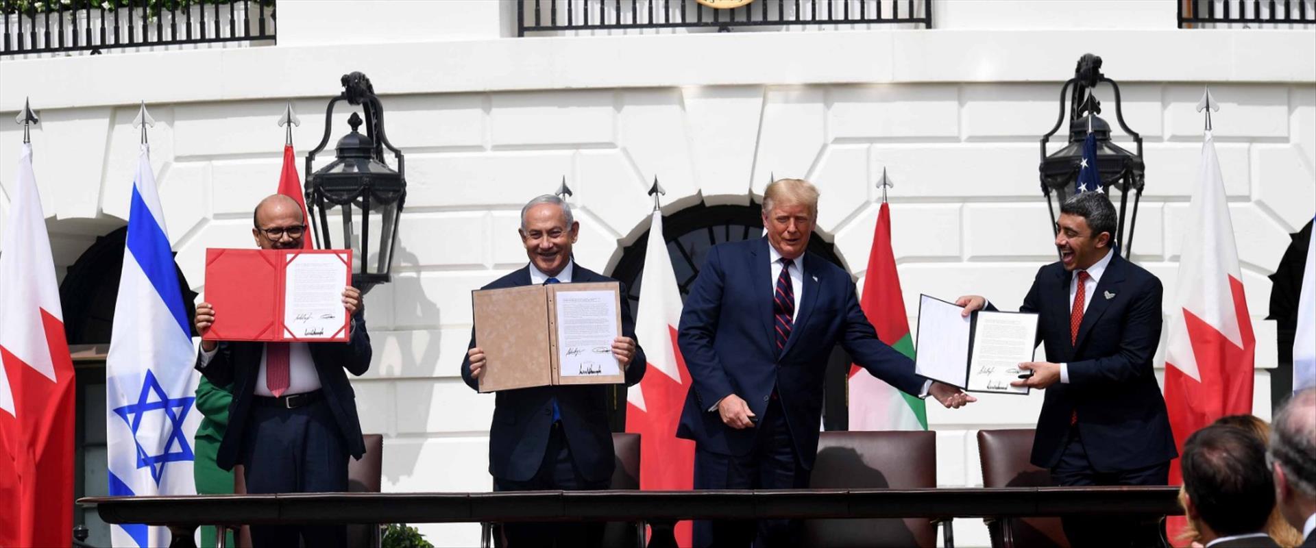 טקס החתימה על הסכם השלום בוושינגטון, אתמול