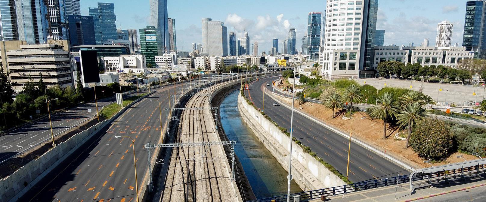 תל אביב יפו עם הטלת הסגר בערב ראש השנה, בשבוע שעבר