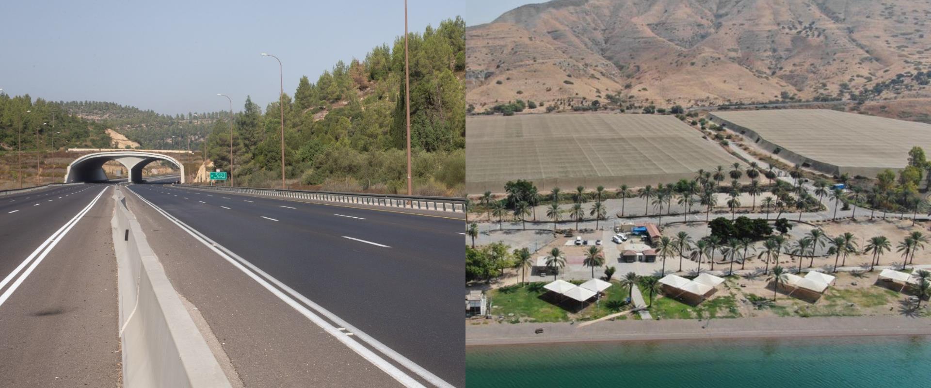 כבישים וחופים ריקים
