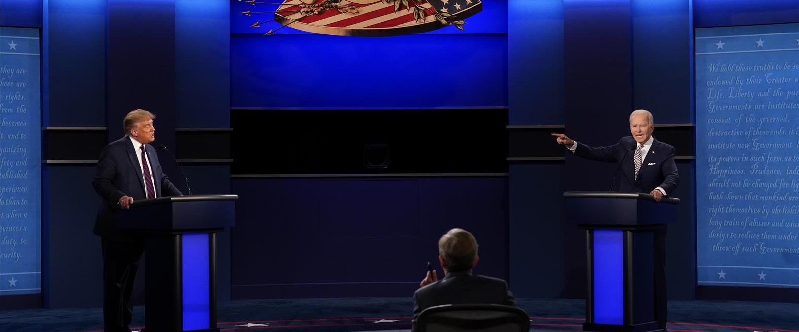 העימות בין טראמפ וביידן