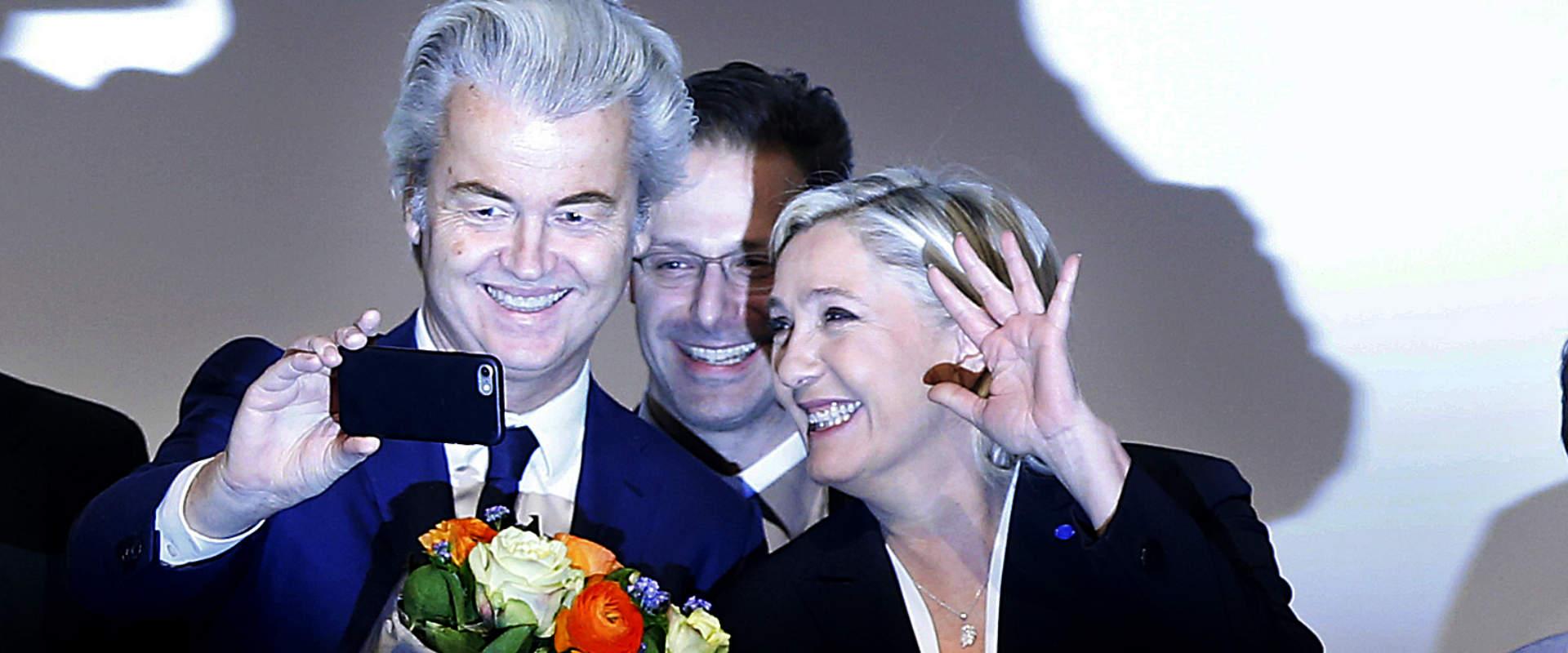 וילדרס (משמאל) ומארין לה פן