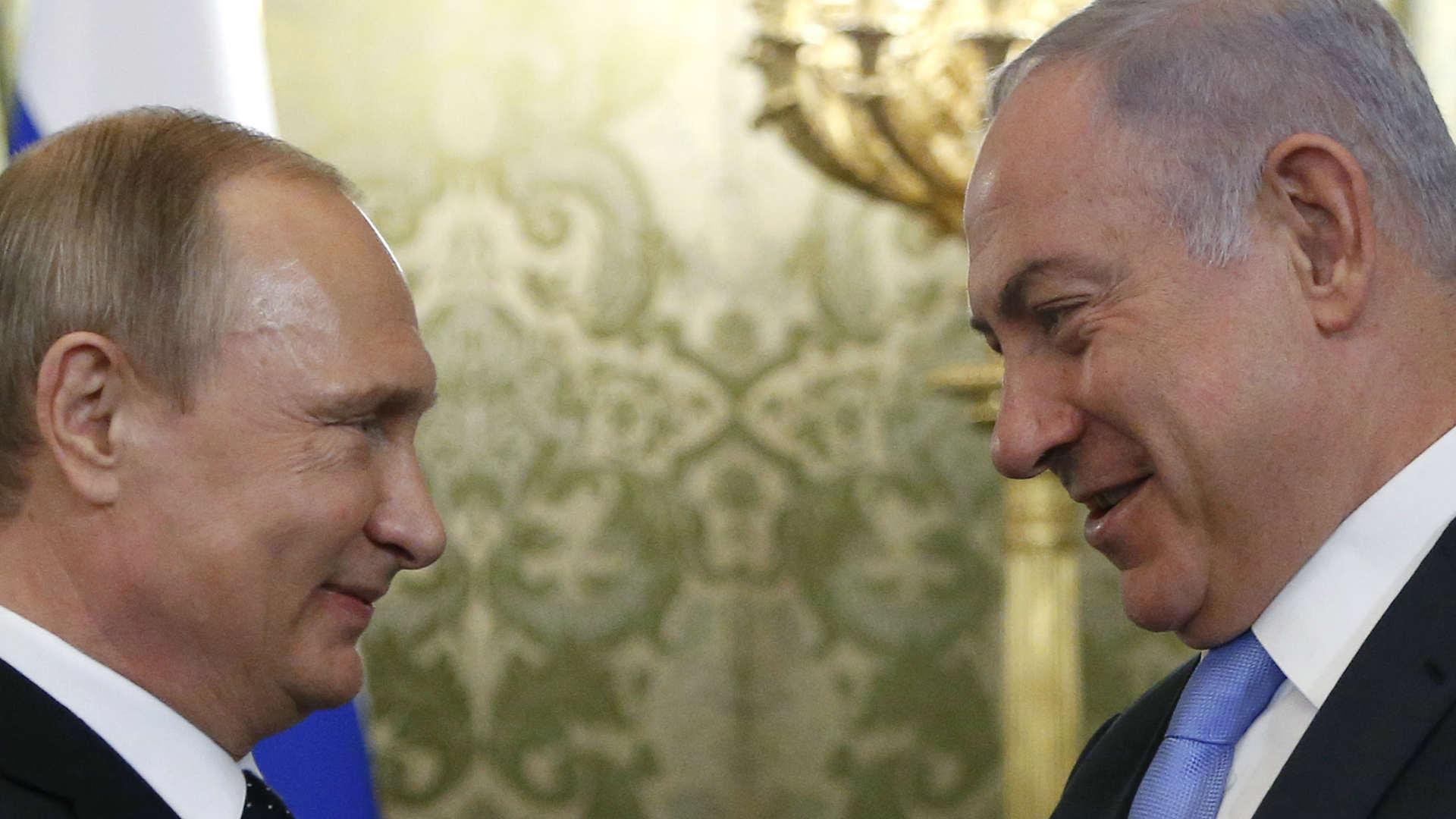מימין: ראש הממשלה נתניהו ונשיא רוסיה פוטין