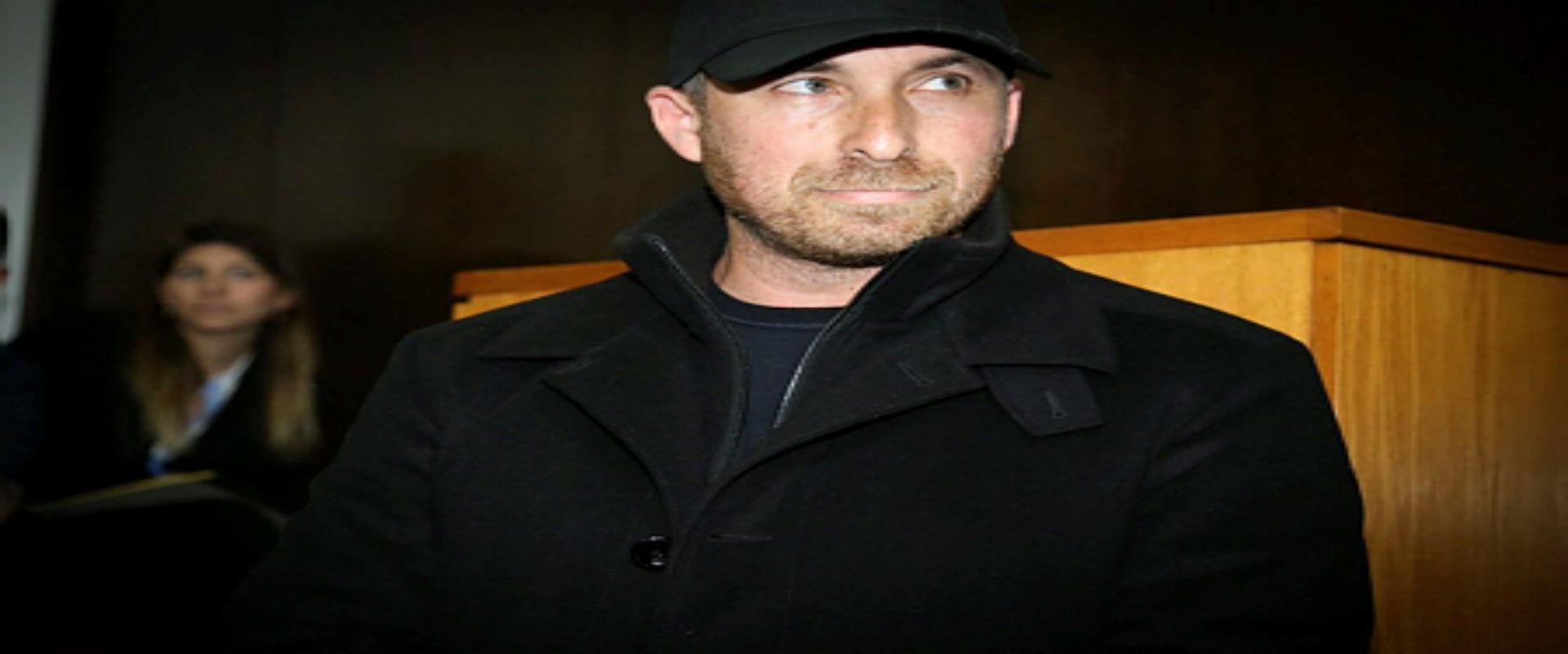 העבריין עמיר מולנר בדיון במשפטו, אפריל 2017