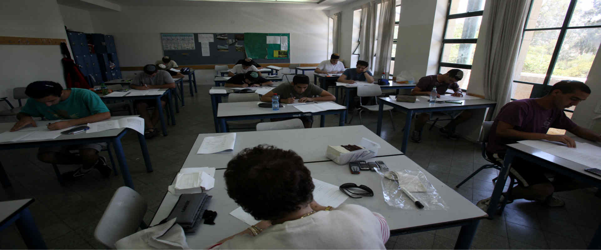 תלמידים בבית ספר תיכון