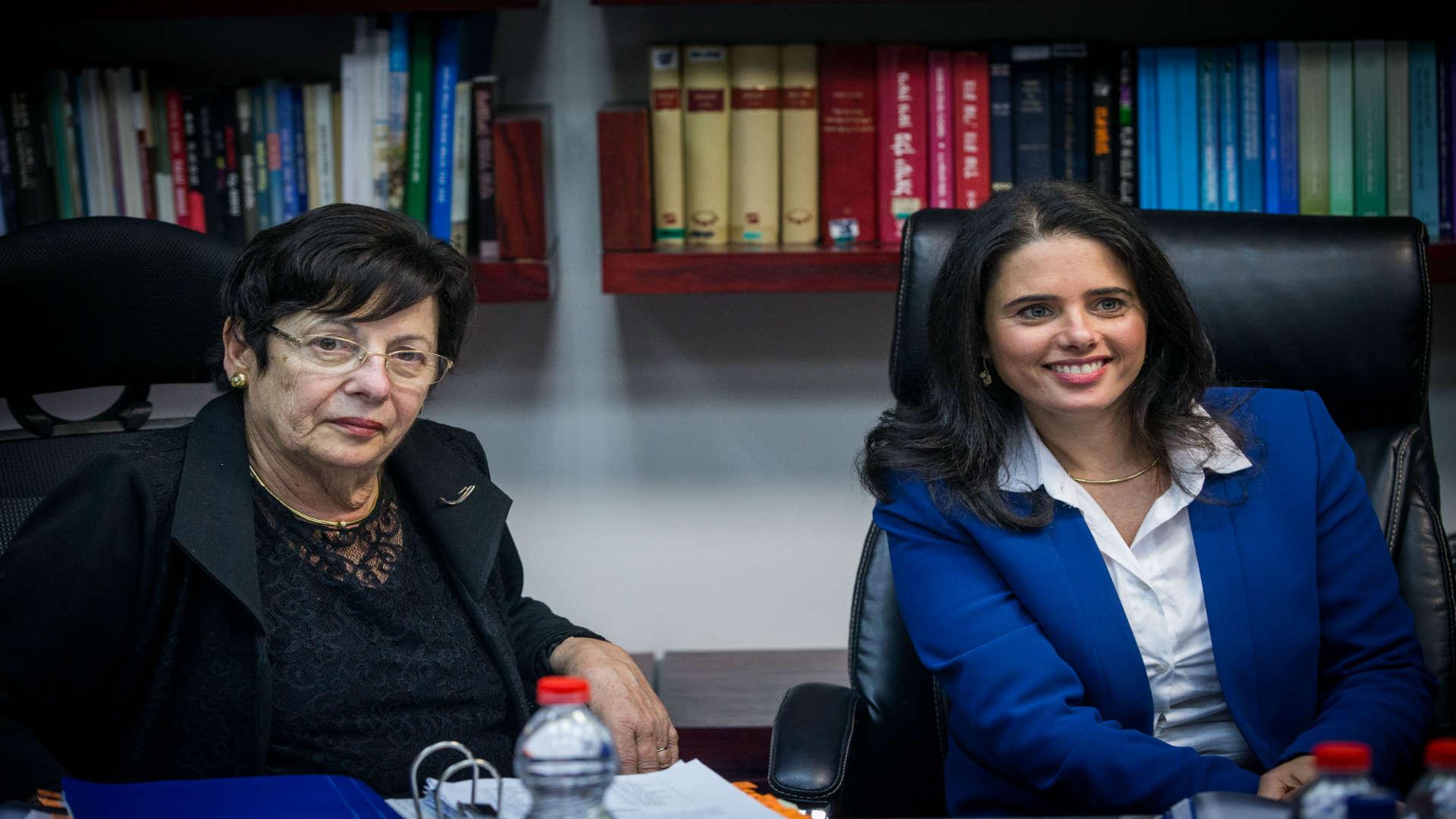 שרת המשפטים איילת שקד ונשיאת בית המשפט העליון מרים