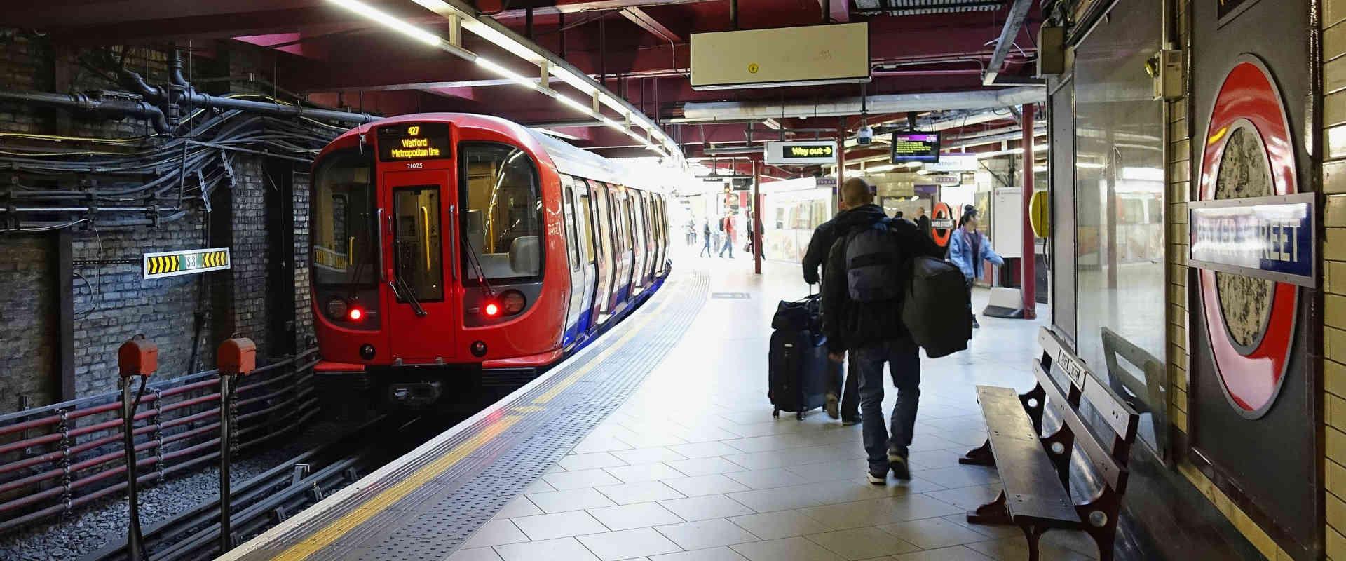"""תחנת """"בייקר"""" ברכבת התחתית של לונדון"""