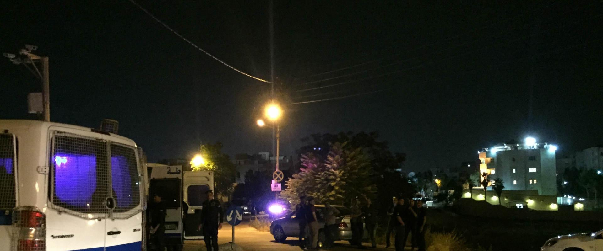 אזור האירוע שבו בוצע ניסיון הפיגוע במאבטח הישראלי