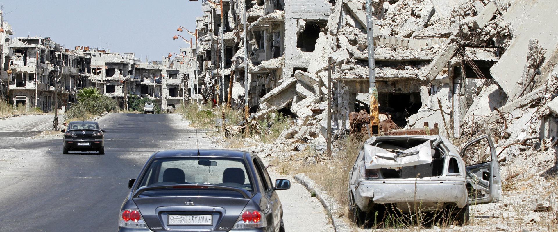 הרס בעיר חומס שבסוריה