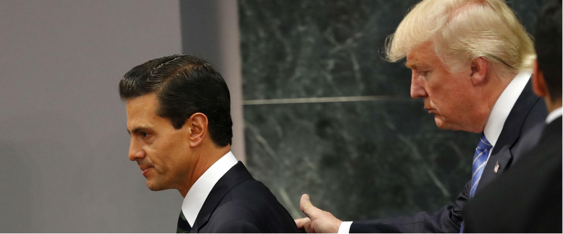 פגישת טראמפ עם נשיא מקסיקו, בתקופת קמפיין הבחירות