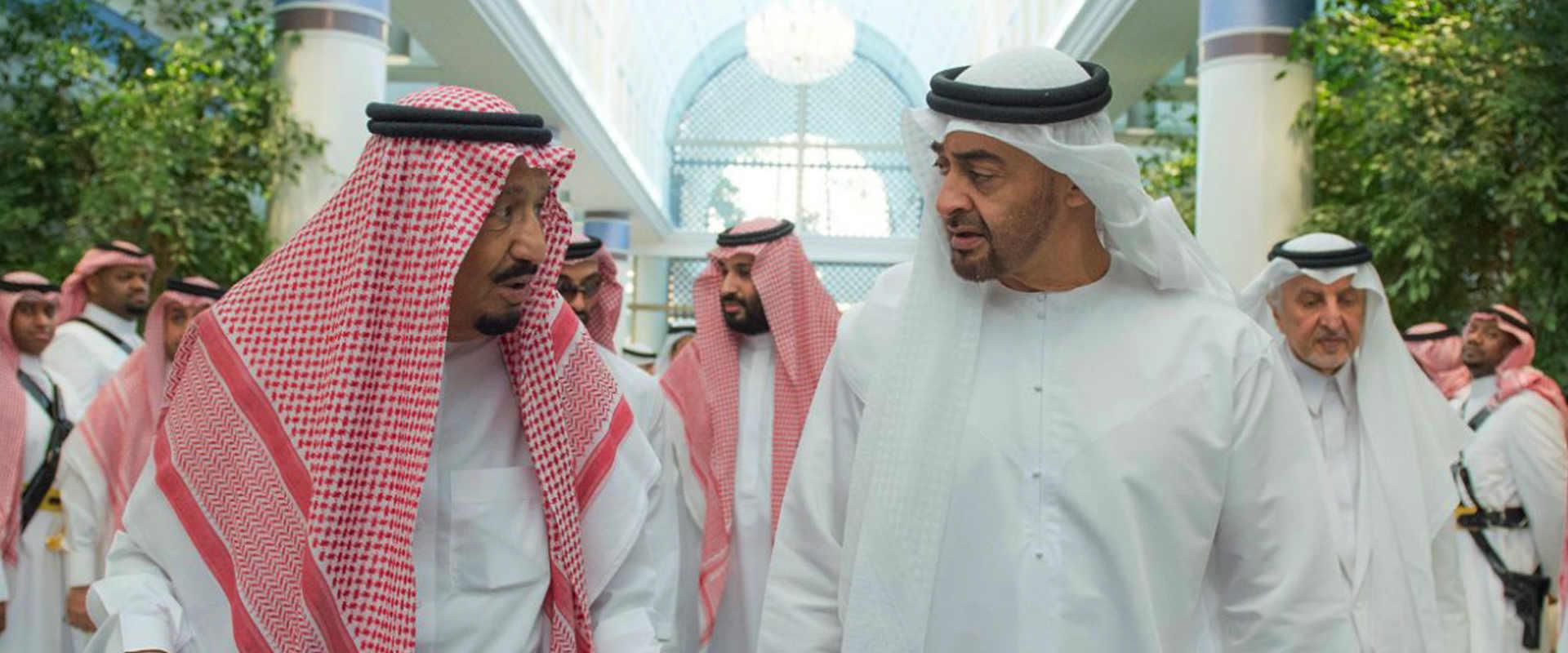 מלך סעודיה לצד נסיך הכתר של אבו-דאבי, יולי 2017