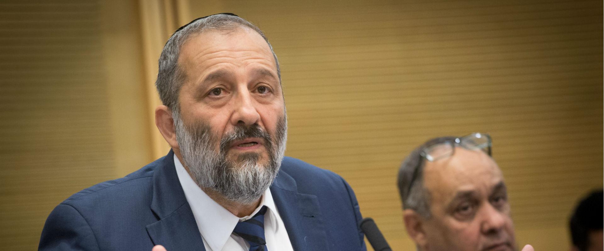 שר הפנים אריה דרעי בכנסת, יולי 2017