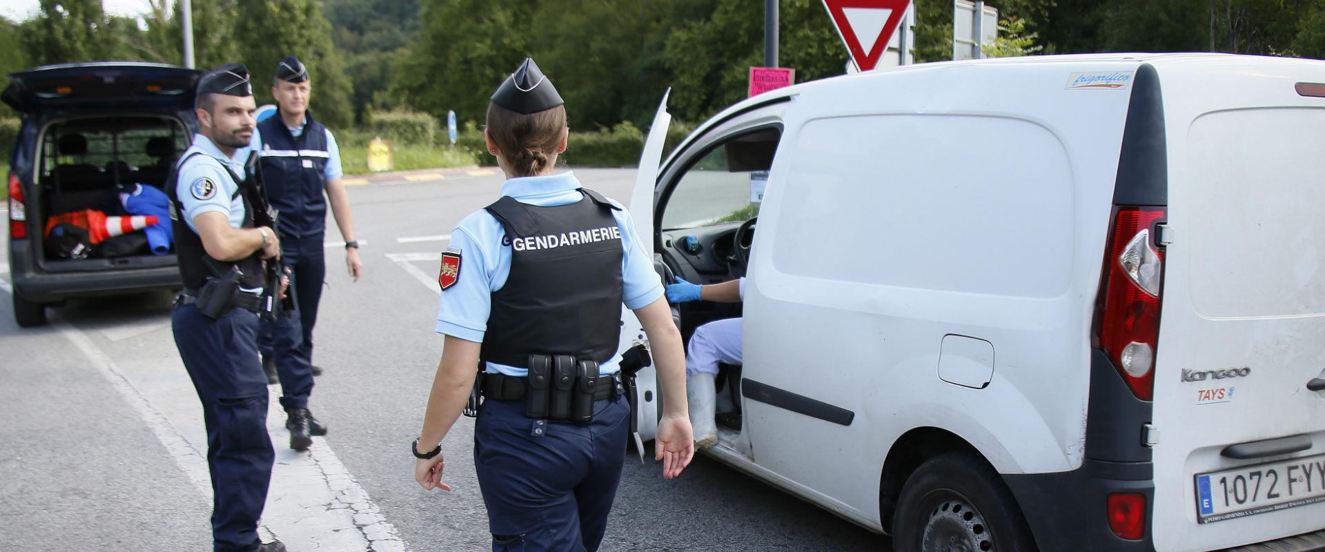 בידוק במעבר הגבול בין ספרד לצרפת
