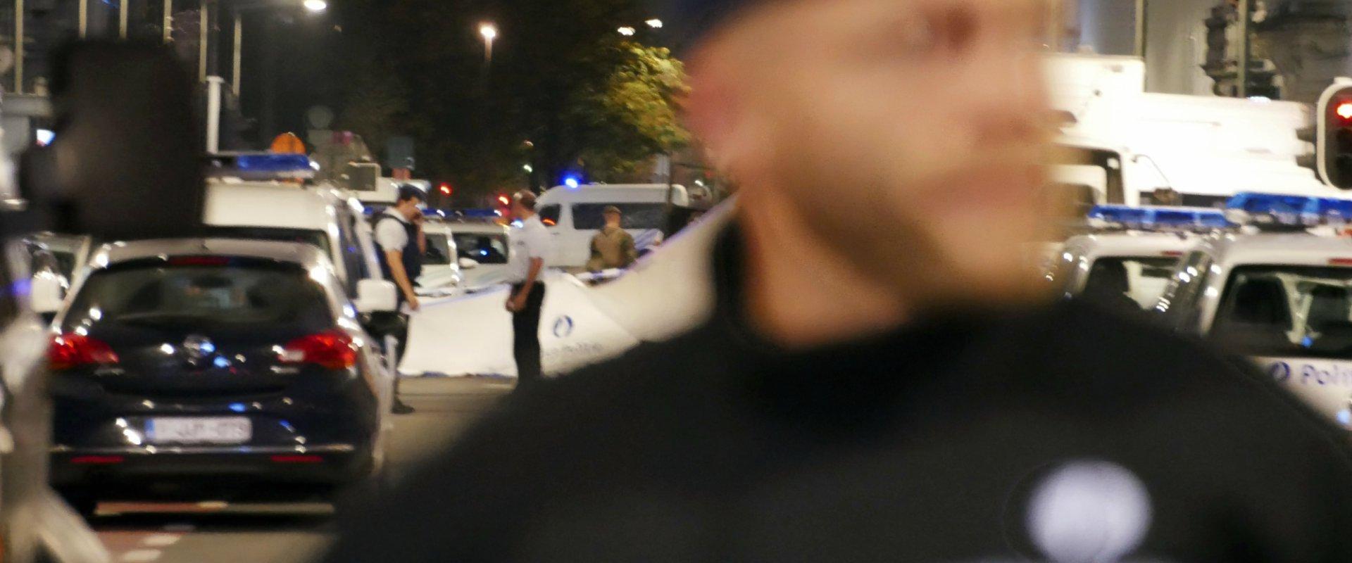 כוחות הביטחון של בלגיה בזירת האירוע