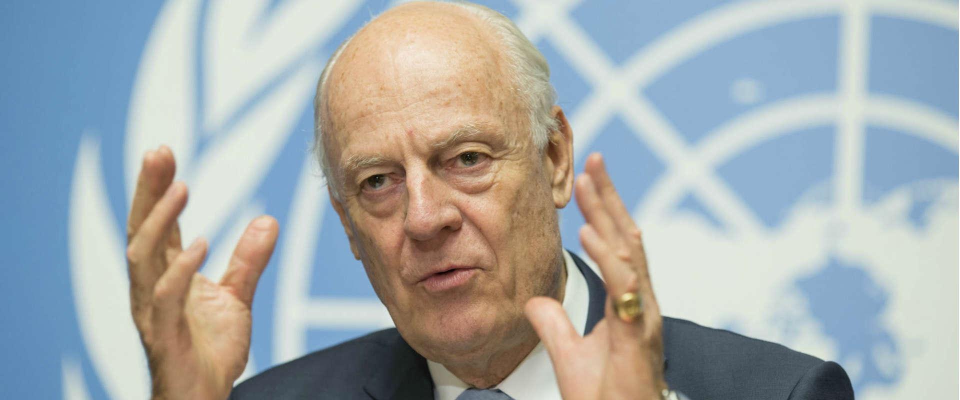 """שליח האו""""ם לסוריה, סטפן דה-מיסטורה"""
