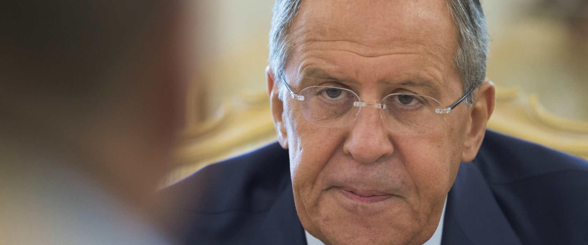 שר החוץ הרוסי סרגיי לברוב