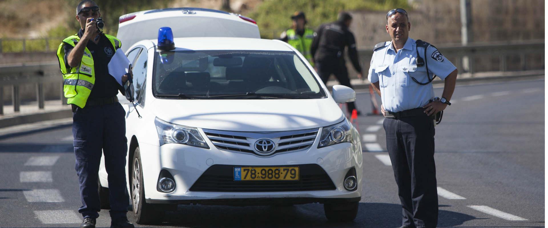 שוטרים בזירת תאונה