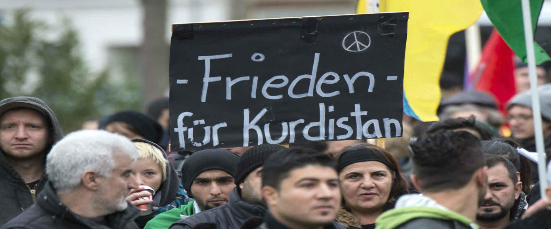 הפגנת תמיכה בעצמאותם של הכורדים