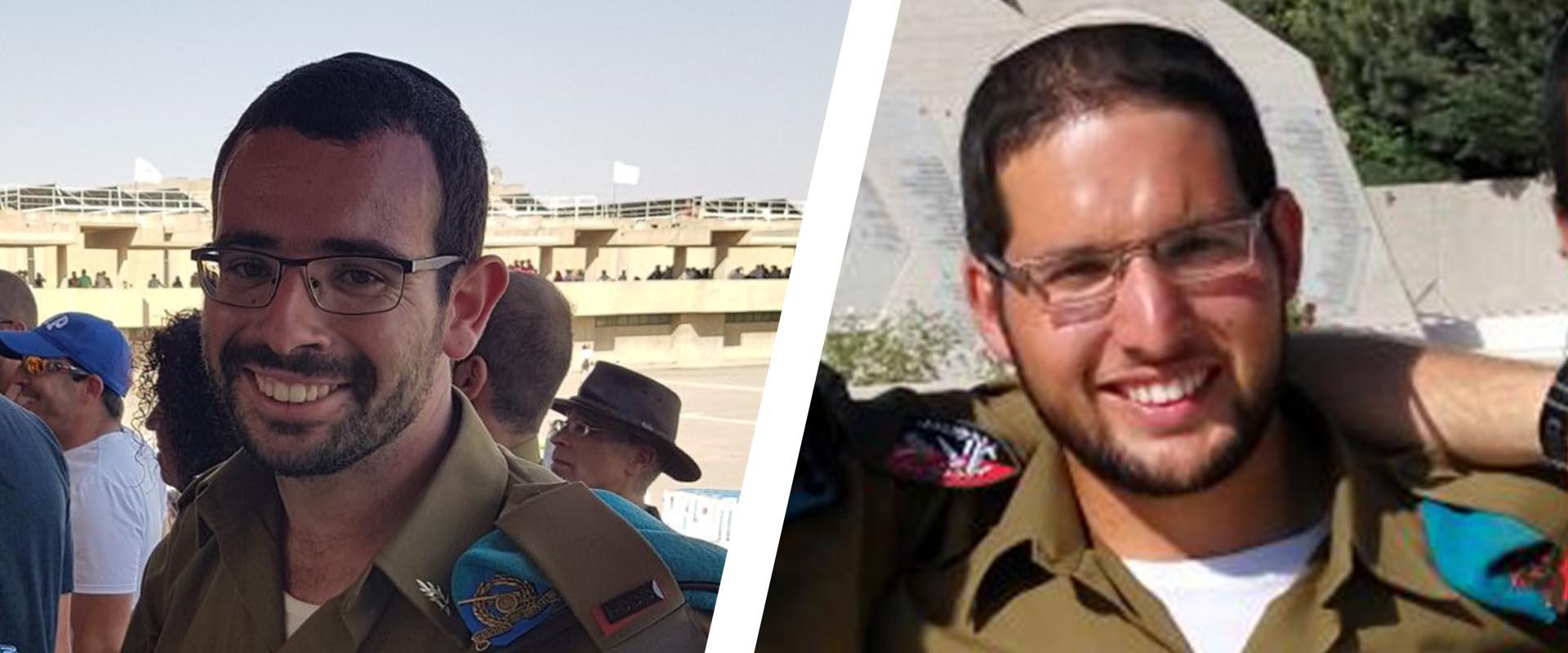 מימין: אבינעם כהן ואבשלום ערמוני