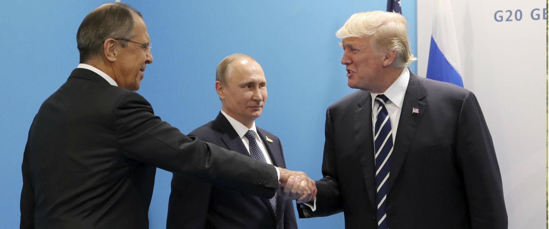 דונלד טראמפ וסרגיי לברוב