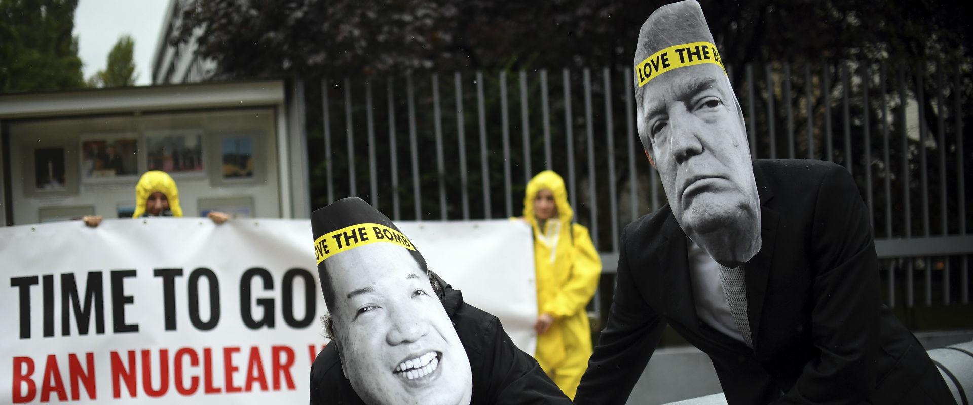 מחאה של הארגון לפירוז העולם מנשק גרעיני באוסטרליה