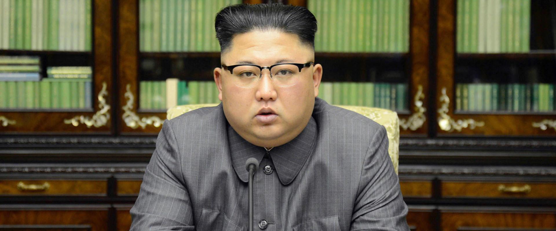 קים ג'ונג און, בשידור בארצו בחודש שעבר