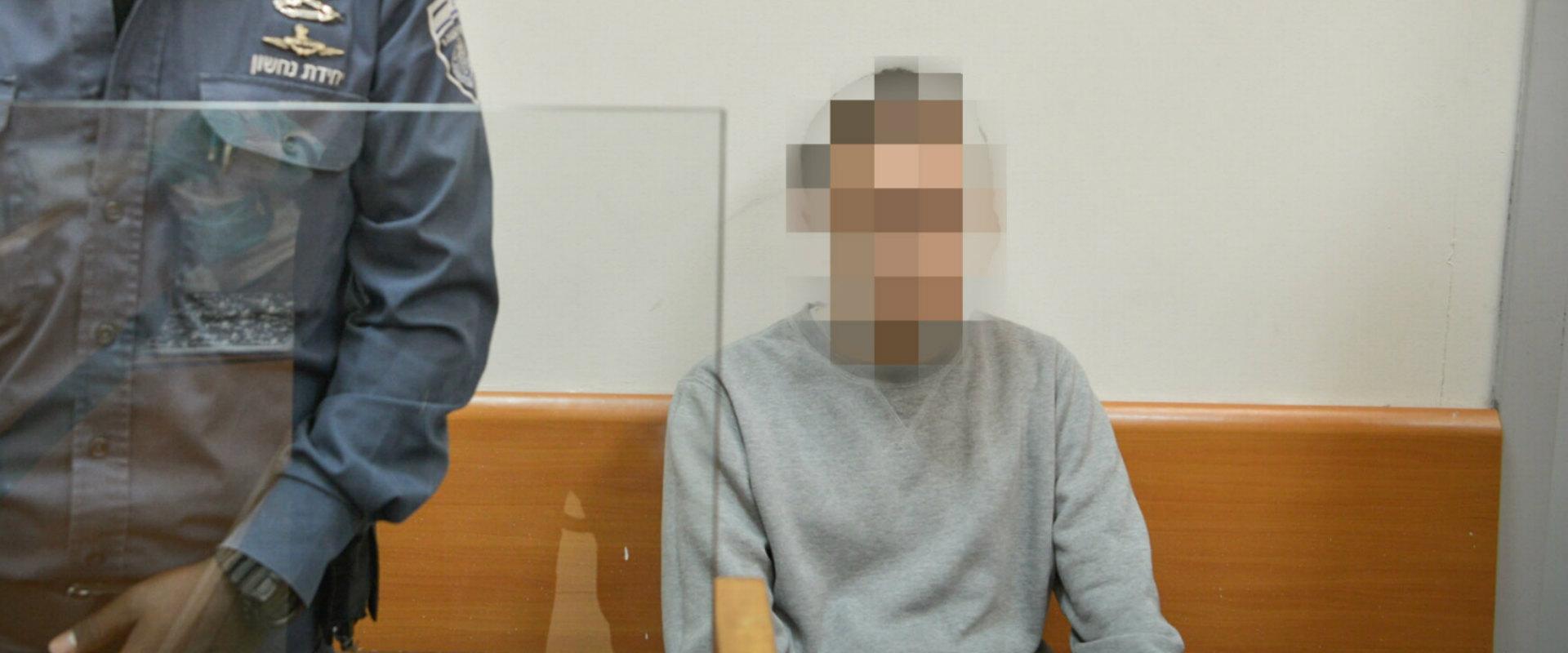 ההאקר מאשקלון בעת הארכת מעצרו, מרץ 2017