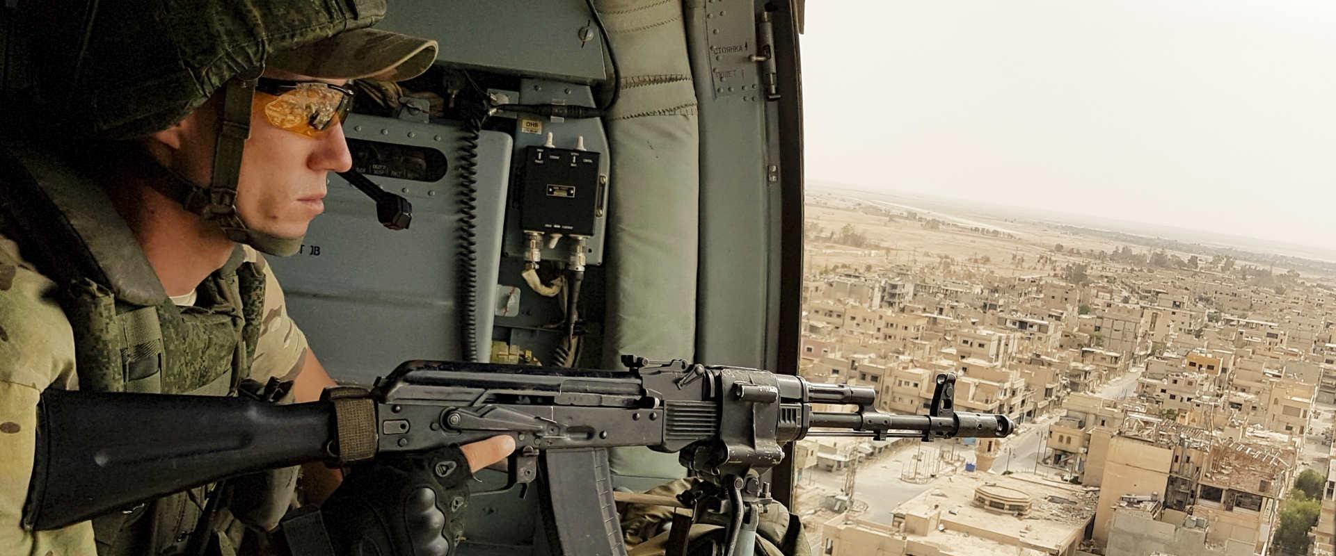 חייל רוסי מעל תדמור, בחודש שעבר