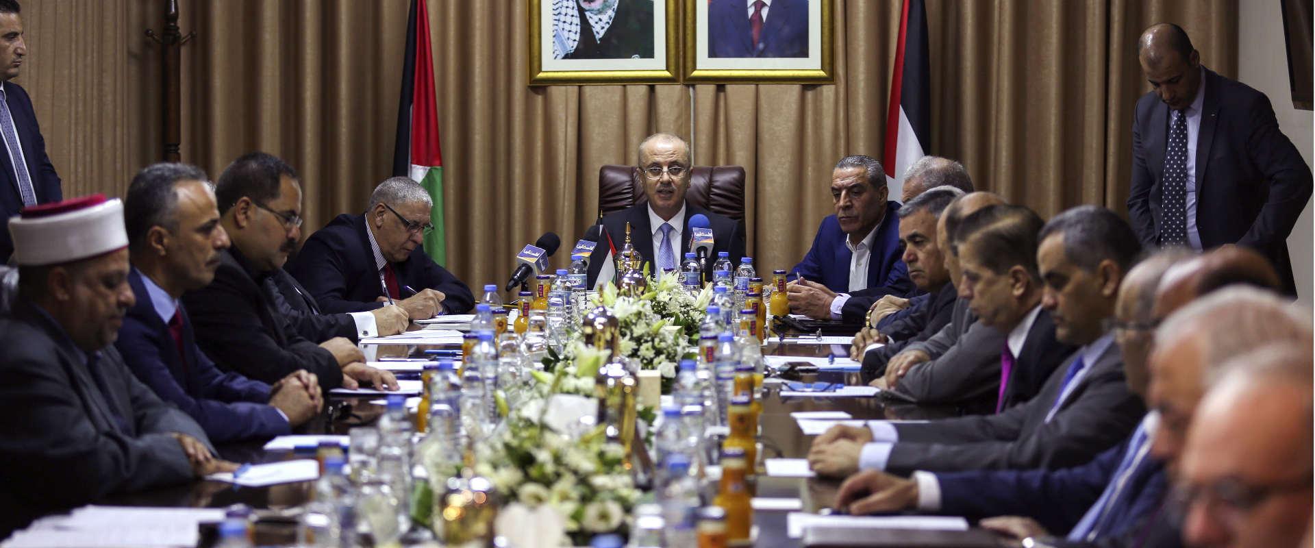 ישיבת הממשלה הפלסטינית בעזה